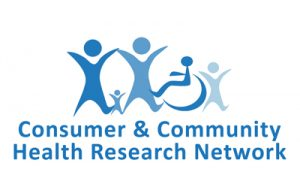 Consumer & Community Health Research Network logo with blue text