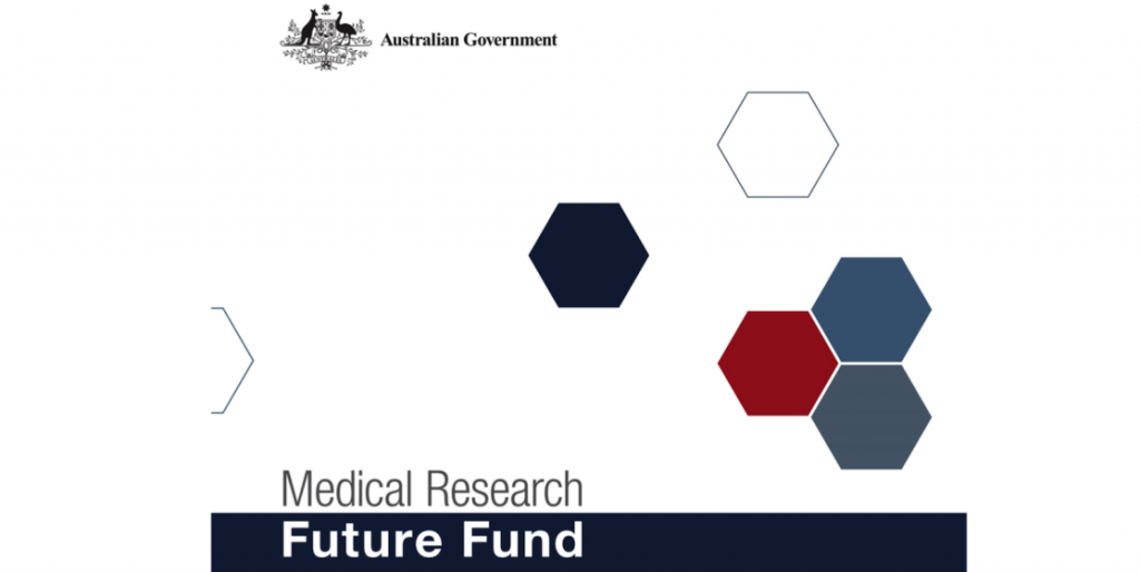 Medical Research Future Fund logo with Australian federal goverment logo