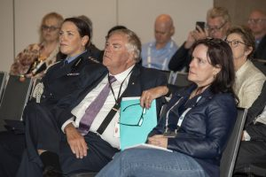 Govenor General Kim Beazley watches the opening ceremony of the 2019 Science on the Swan Conference