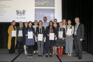 WAHTN Early Career Fellowship recieving their certificates at the Science on the Swan 2019 Conferencec